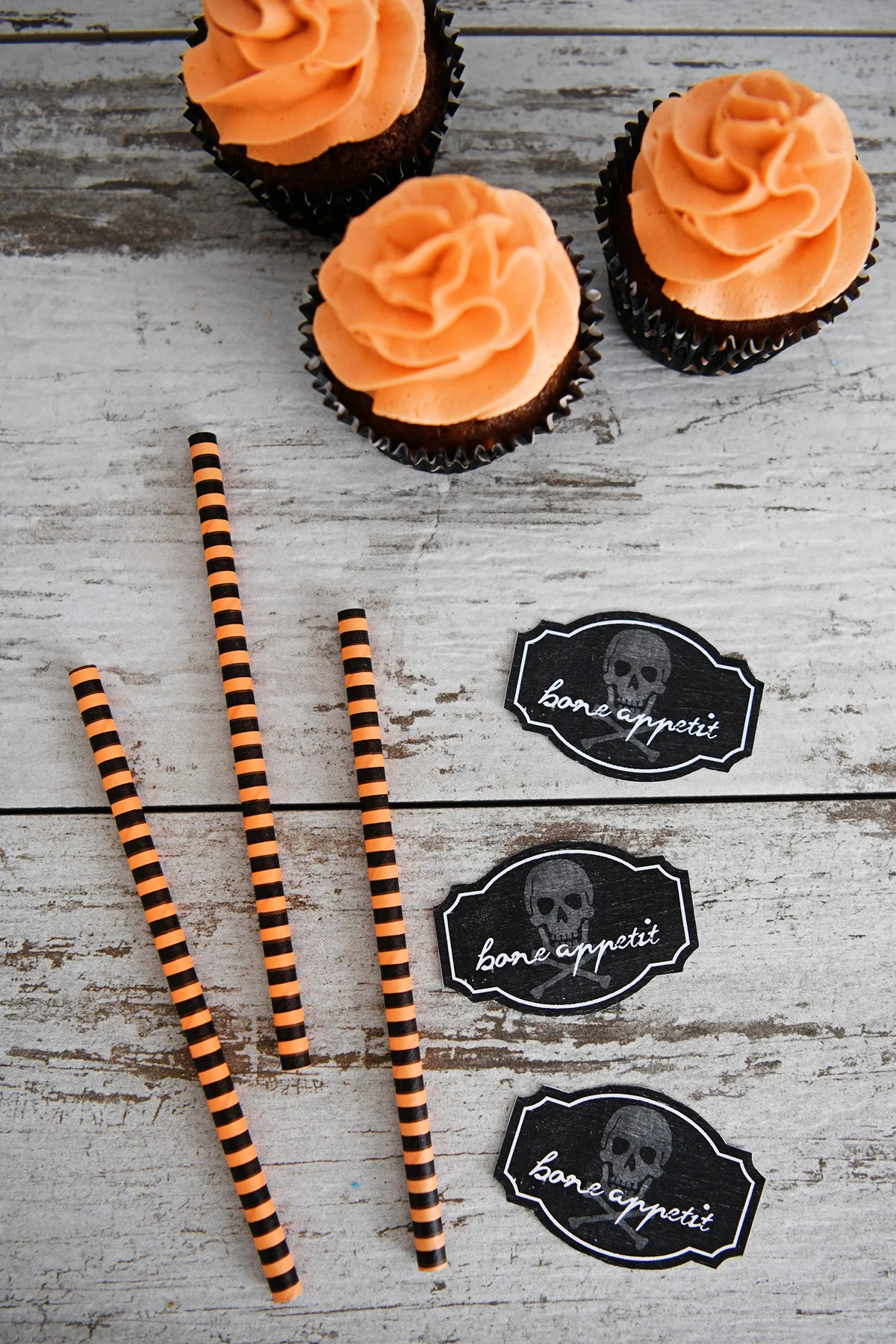 Halloween cupcake toppers 2