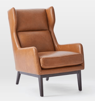 camel leather armchair