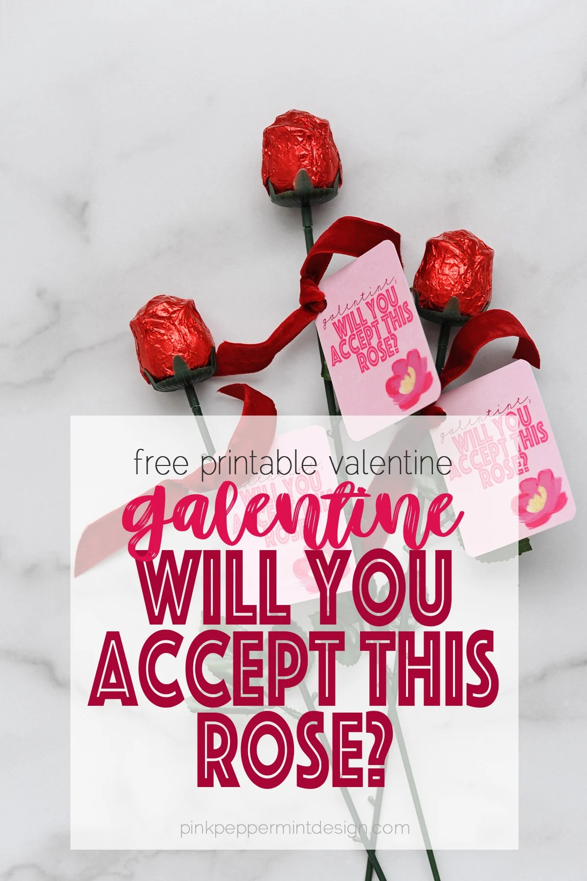 Galentine's Day Ideas : Galentine, Will You Accept This Rose? Free Printable
