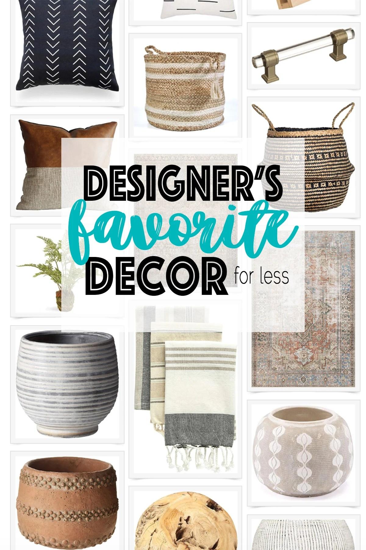 Interior Designer's Favorite Decor for Less