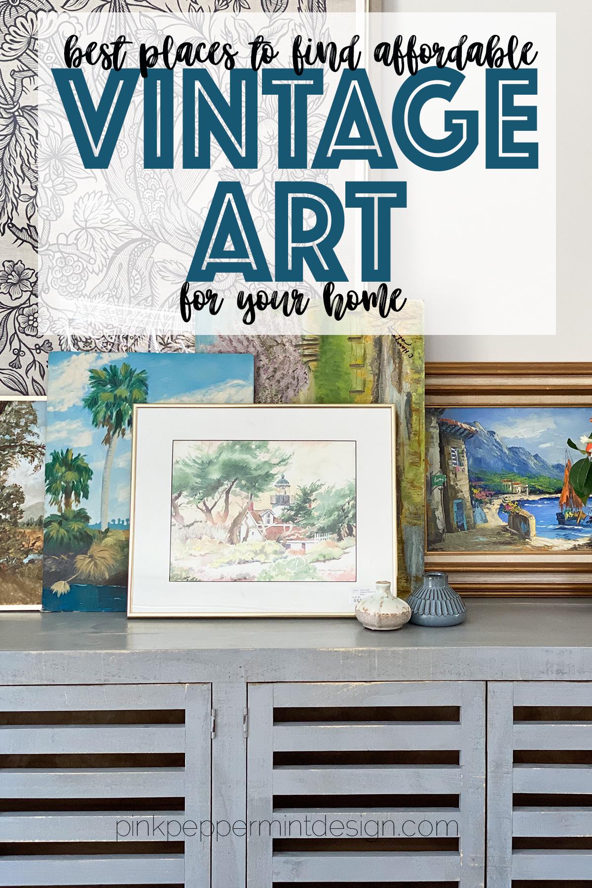 Affordable vintage art