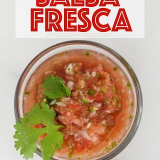 Delicious salsa fresca recipe