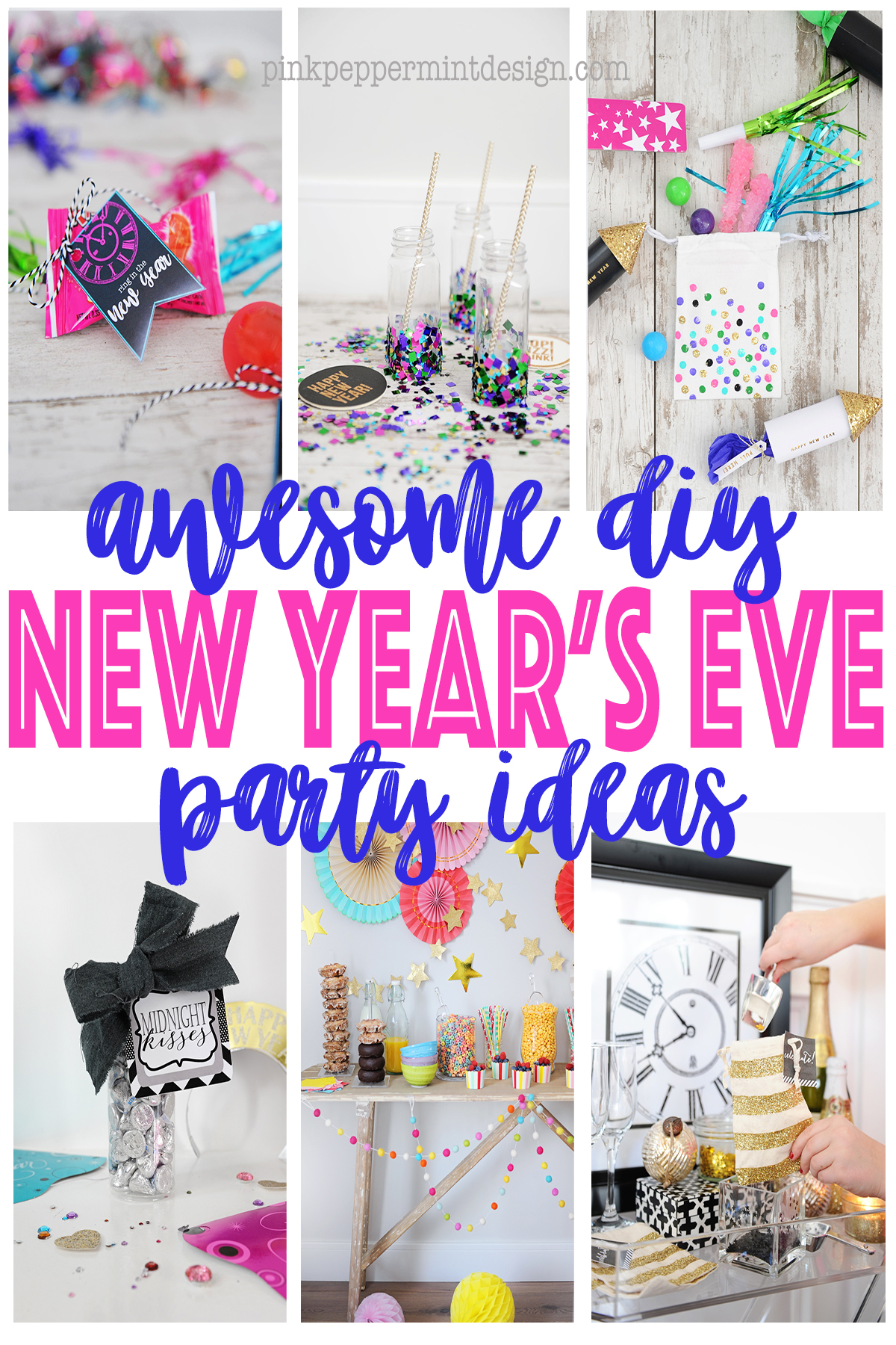 pink peppermint design diy new years eve party ideas