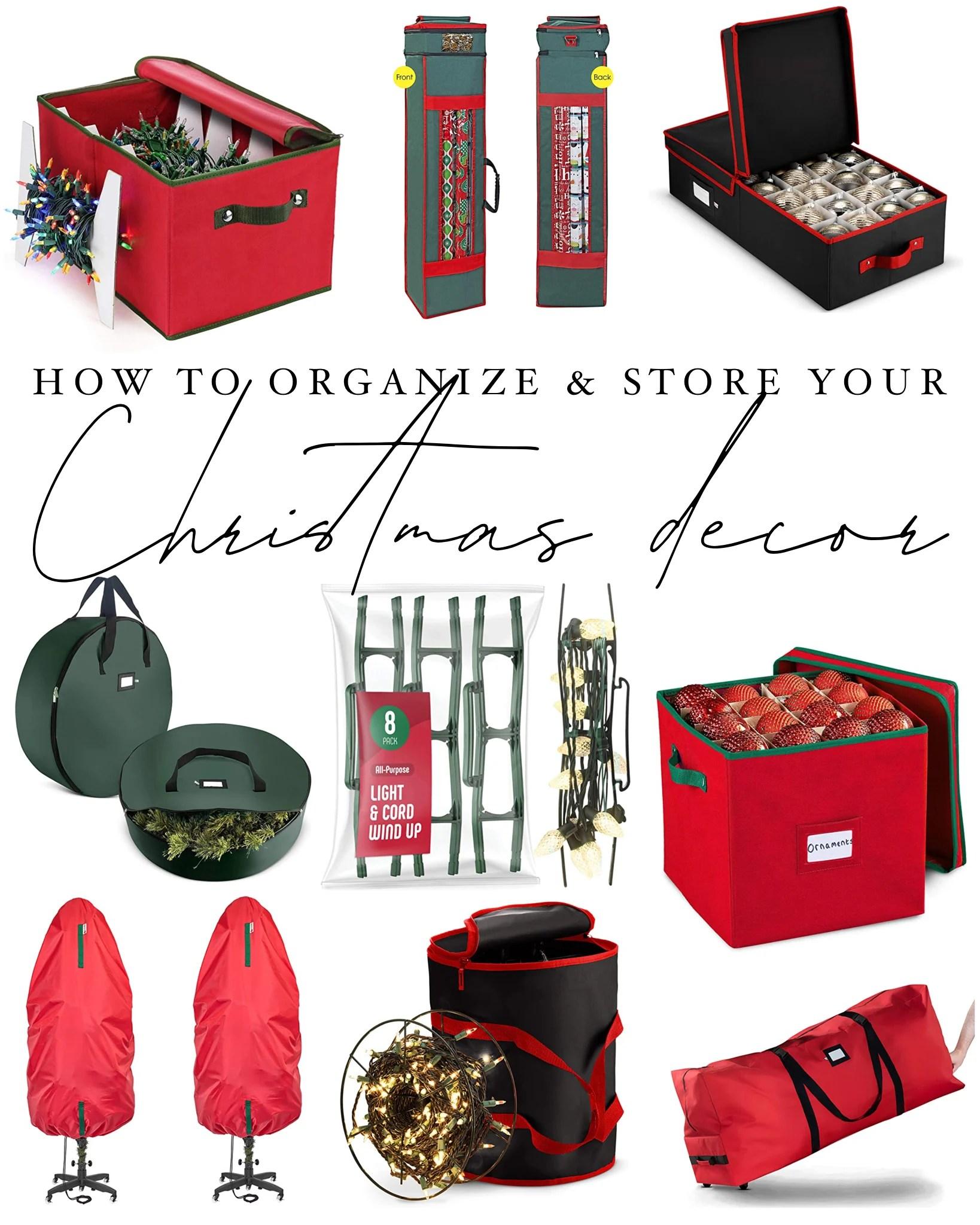 How to organize your christmas decor