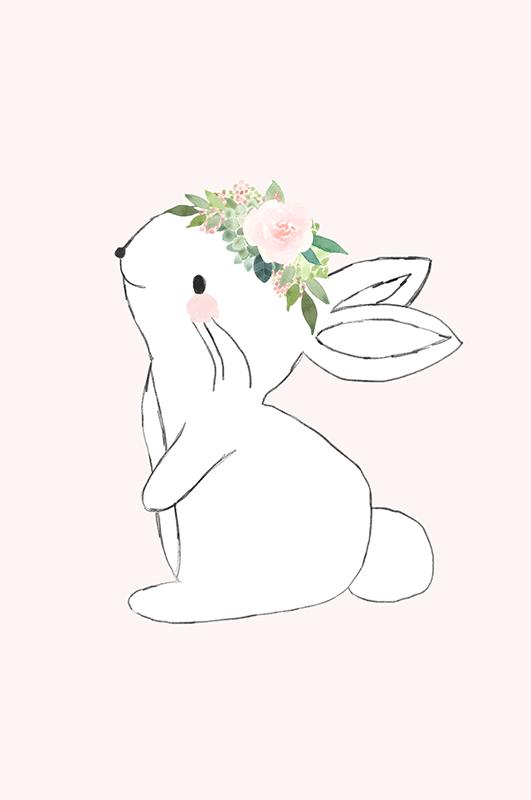 Pink Bunny Nursery Decor Collection