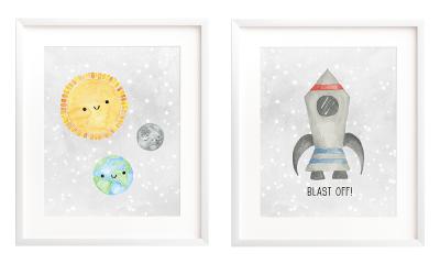 Free Printable Art - Outer Space Nursery