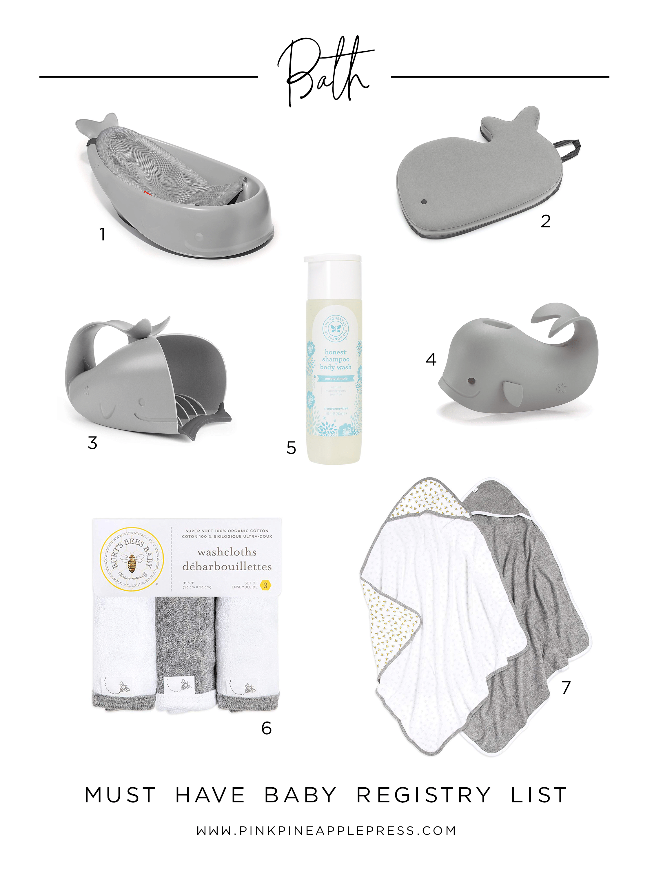 Must Have Baby Registry Items - Bath