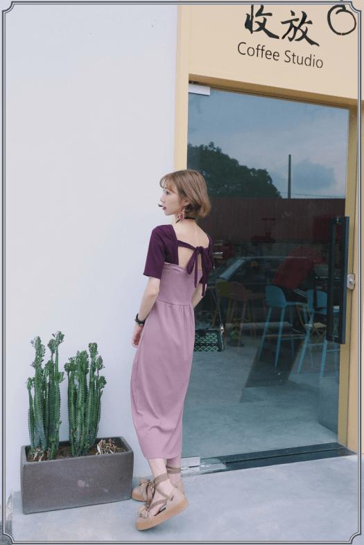 可愛風穿搭、甜美穿搭、女孩連身裙、粉色系連身裙、甜美風