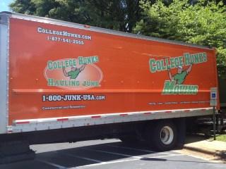 orange moving van