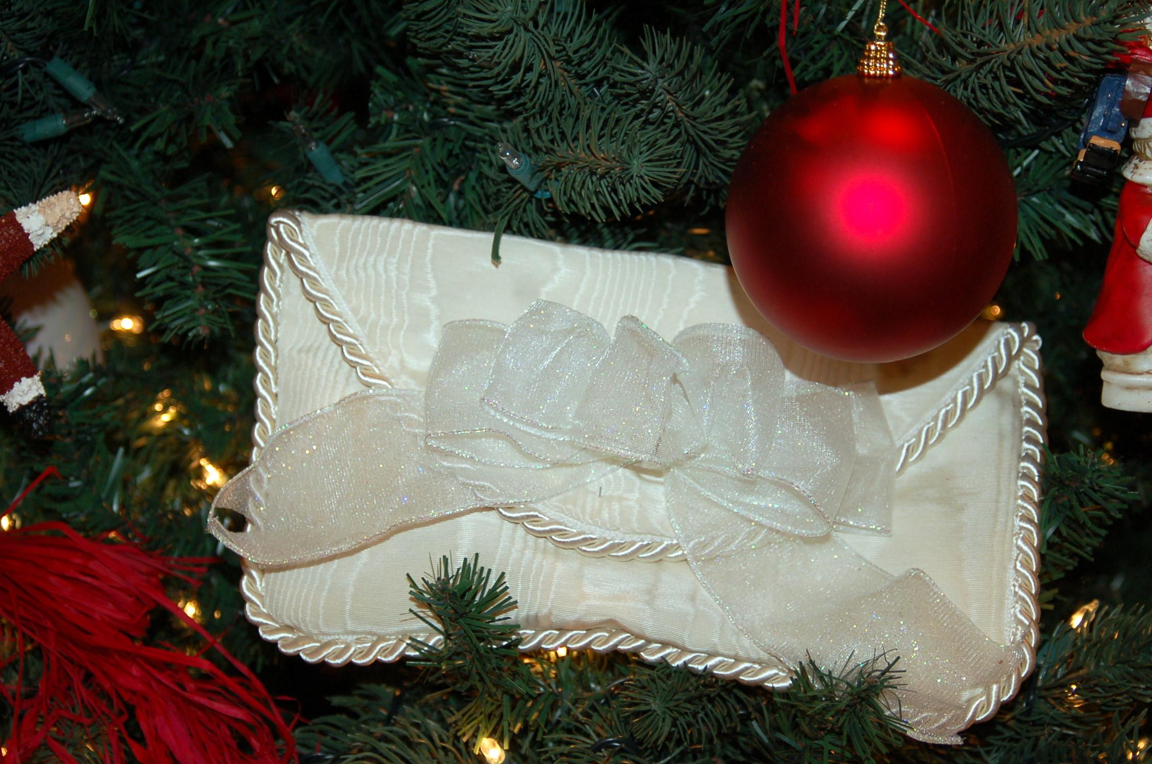 Image result for white envelope on christmas tree