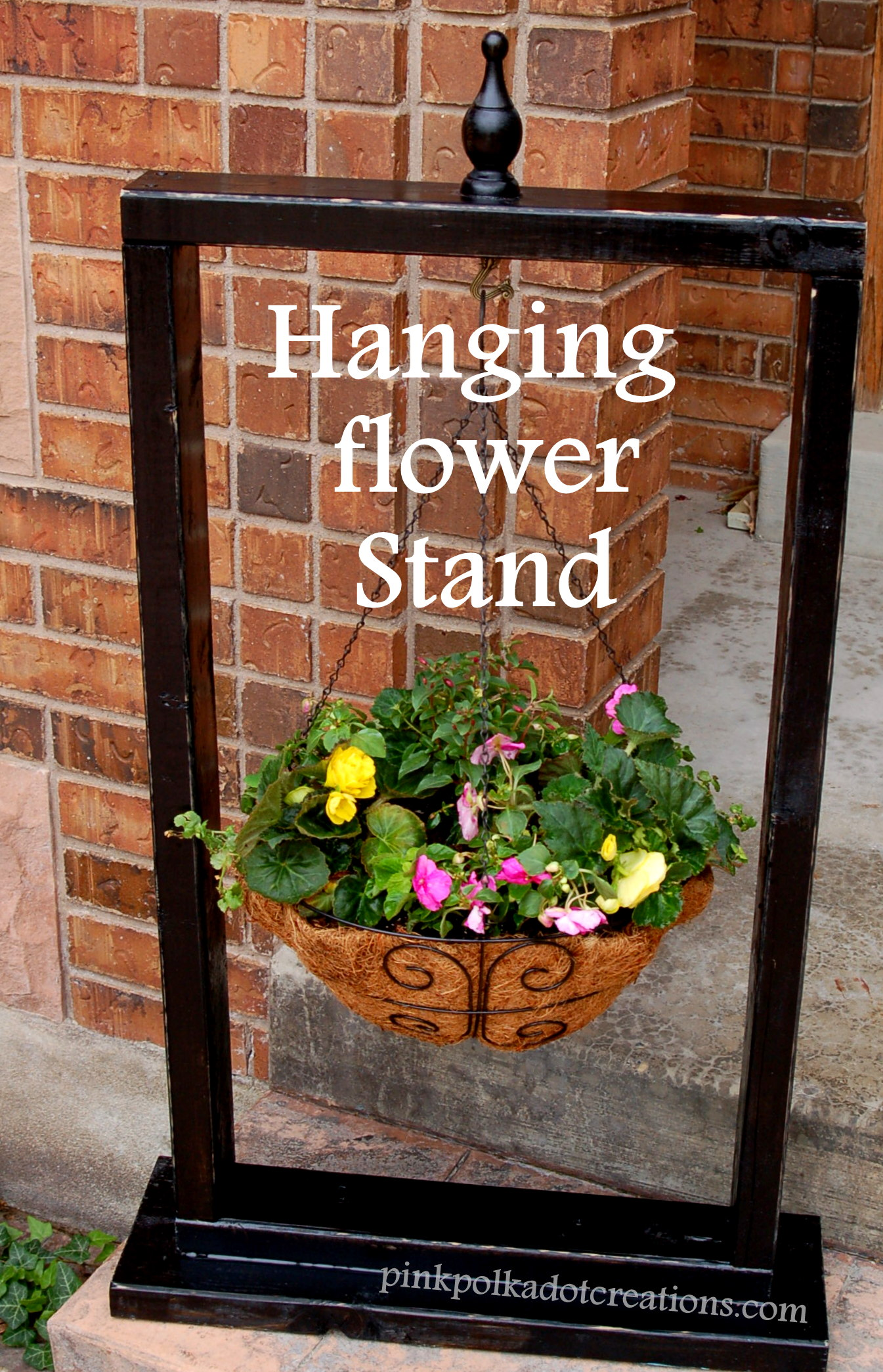 Hanging Flower Stand - Pink Polka Dot Creations on Hanging Stand For Plants  id=25550