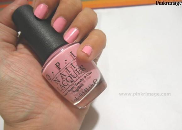 OPI pink nail polishes