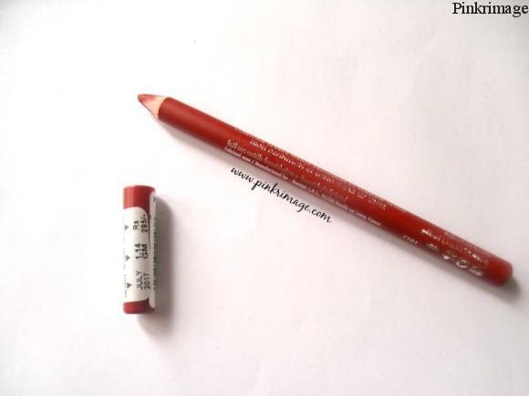 Bourjois rouge seduction lip liner-dupe of MAC ruby woo