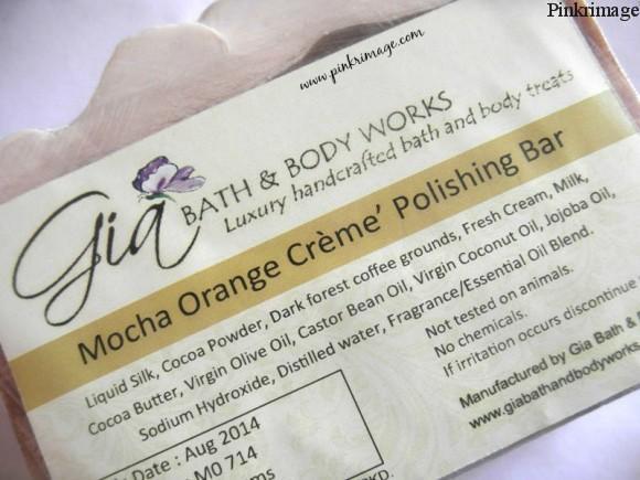 Gia Bath & Body Works Mocha Orange Creme Polishing Bar review