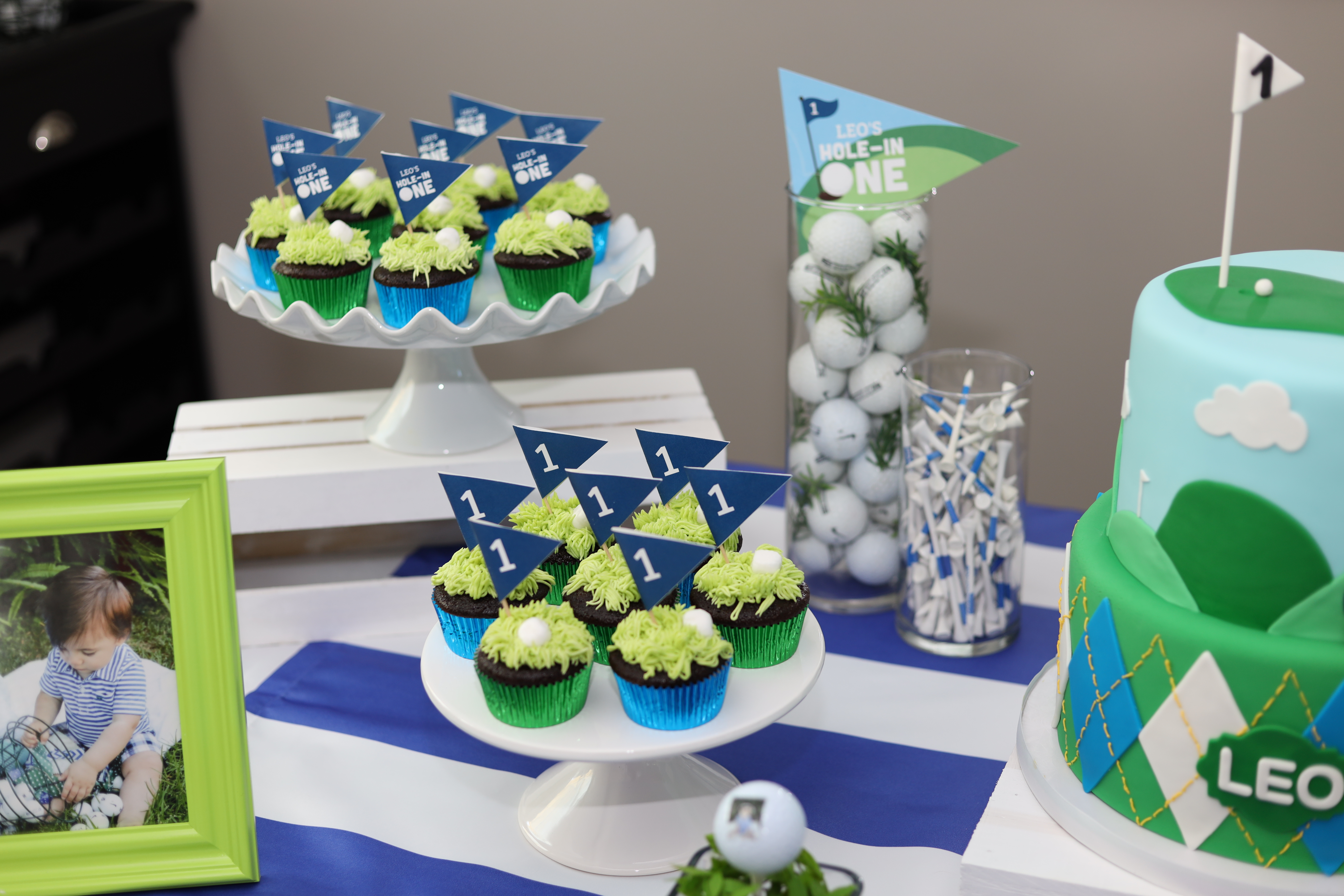Admirable A Hole In One Party Golf Theme 1St Birthday Pink Roses Home Interior And Landscaping Pimpapssignezvosmurscom