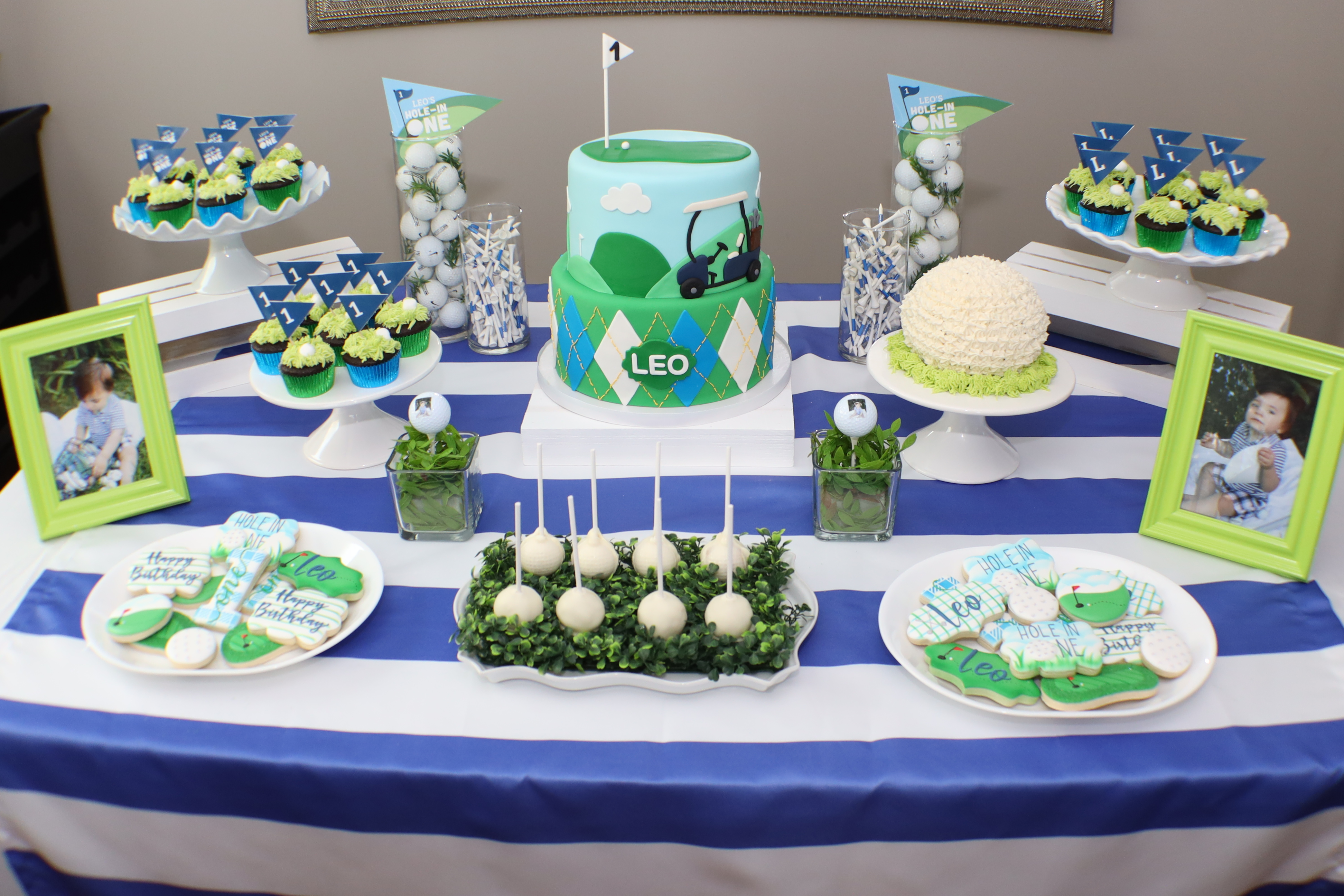 Pleasant A Hole In One Party Golf Theme 1St Birthday Pink Roses Home Interior And Landscaping Pimpapssignezvosmurscom