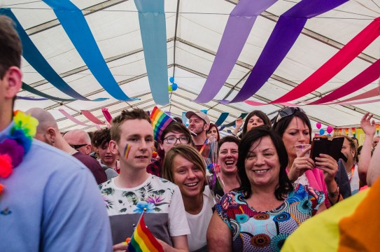 Crowds enjoy the first Fife Pride in Kirkcaldy - July 2017