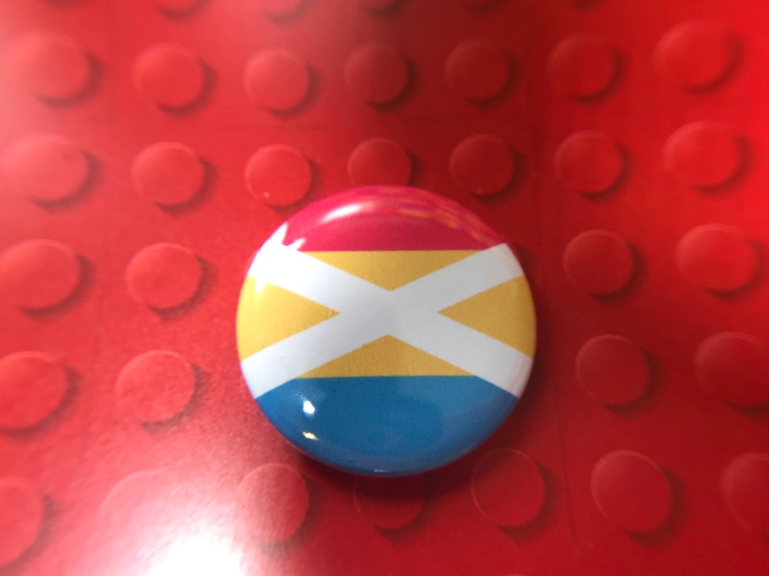 Pansexual Saltire Badge (25mm)