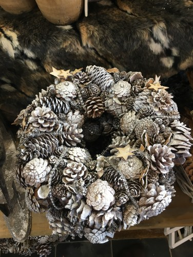 Pine cone Christmas wreaths