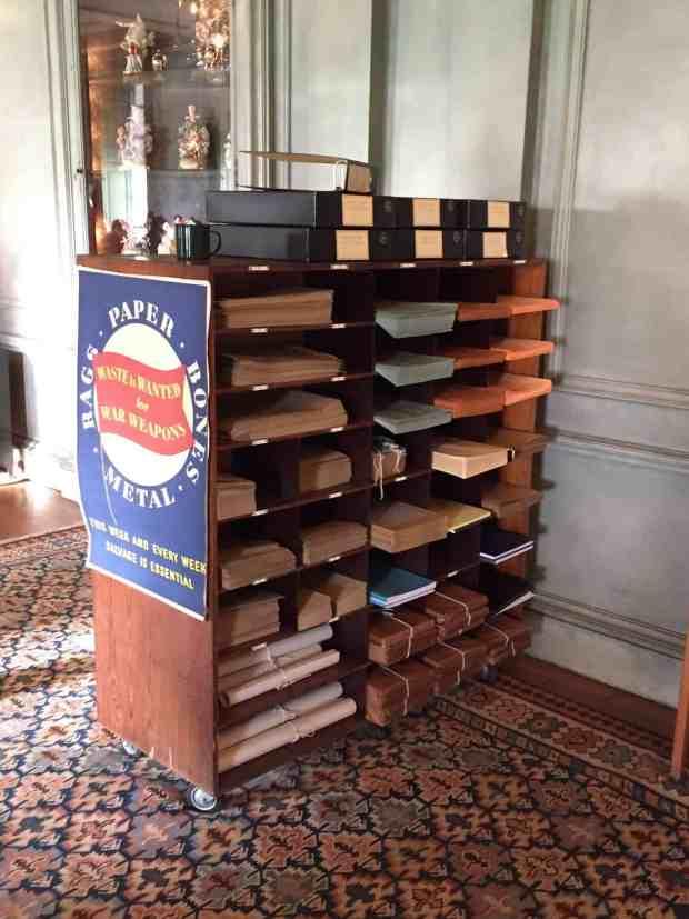 Bank materials recycling at Upton House