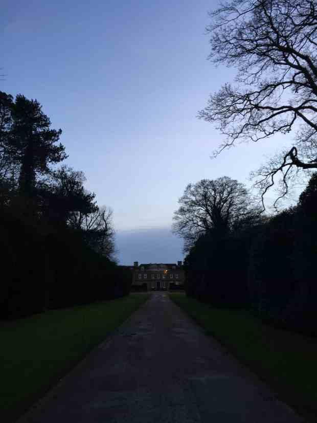 Upton House at dusk