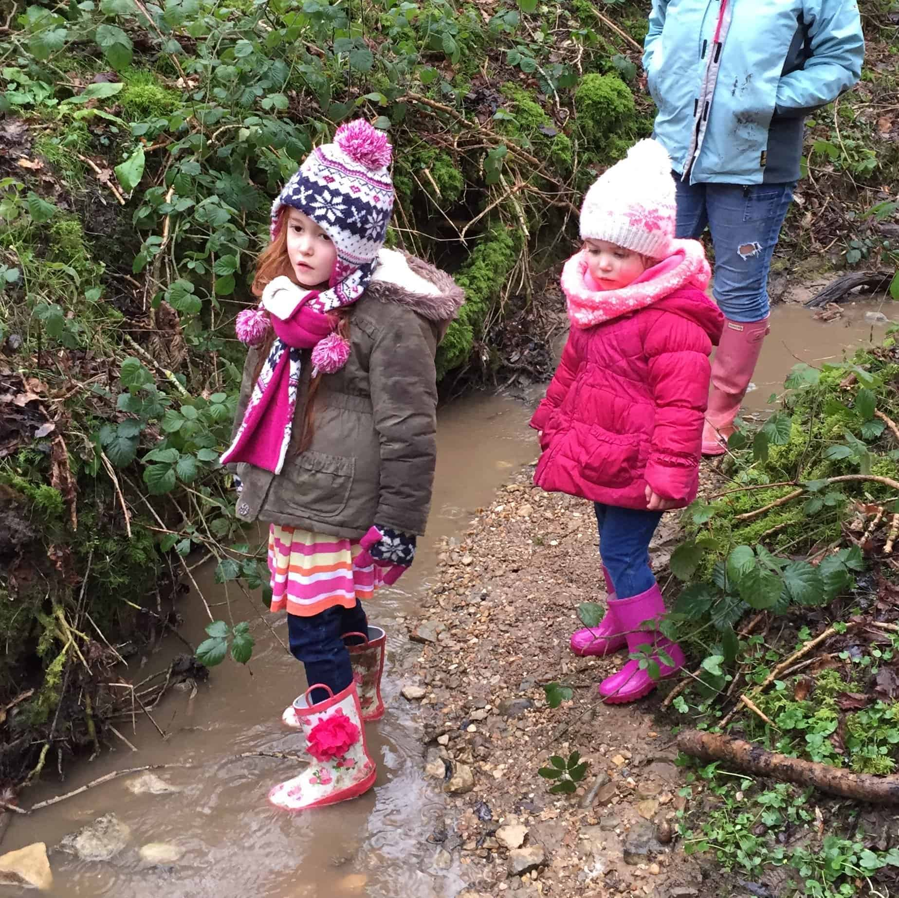 Ava and Thea in a stream