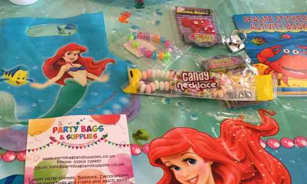 Little Mermaid Party Bag contents from Party Bags & Supplies