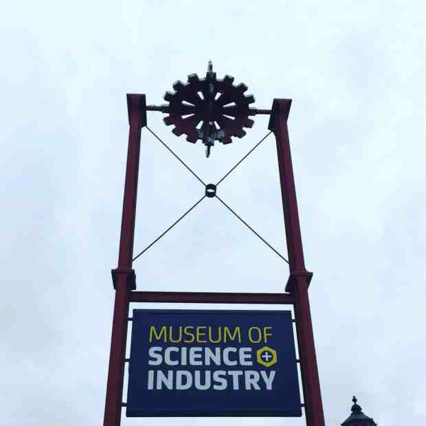 MOSI Museum of Sicence and Industry sign