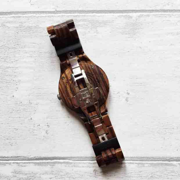 Review Wooden Wrist Watch Jord back