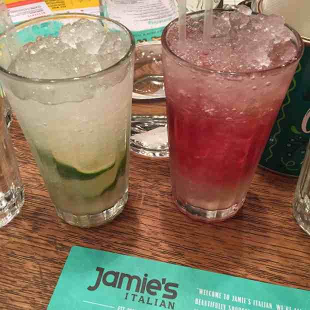 Yummy mocktails at Jamie's Italian Restaurant in Milton Keynes