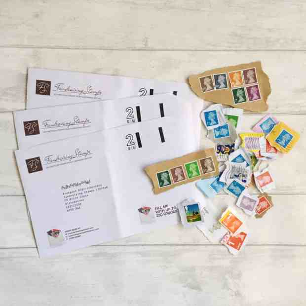 Collecting Stamps for Count the Kicks with FundraisingStamps