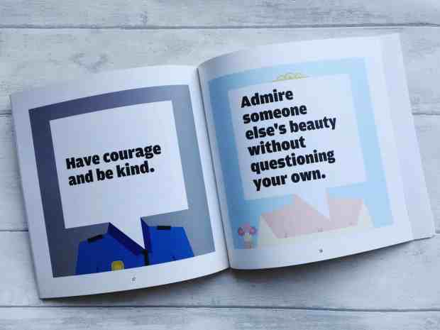 A quote from Cinderella on the left, alongside a quote I found on Pinterest