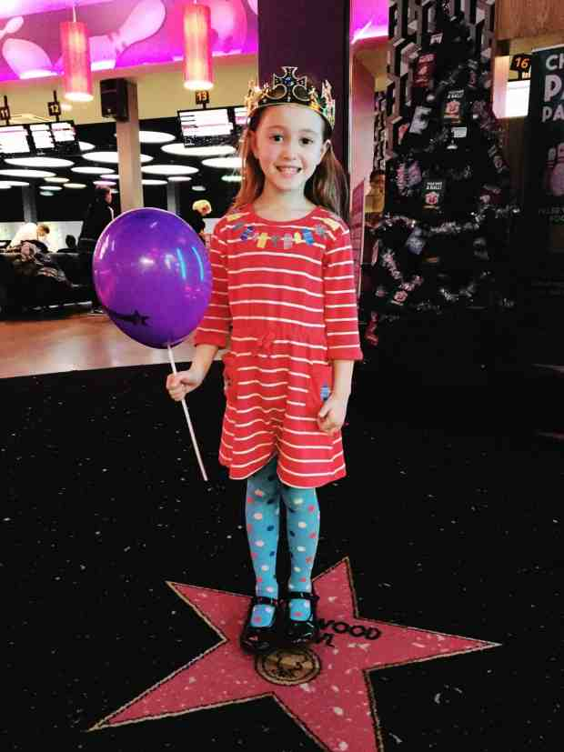 Queen Ava at her Hollywood Bowl kids birthday party