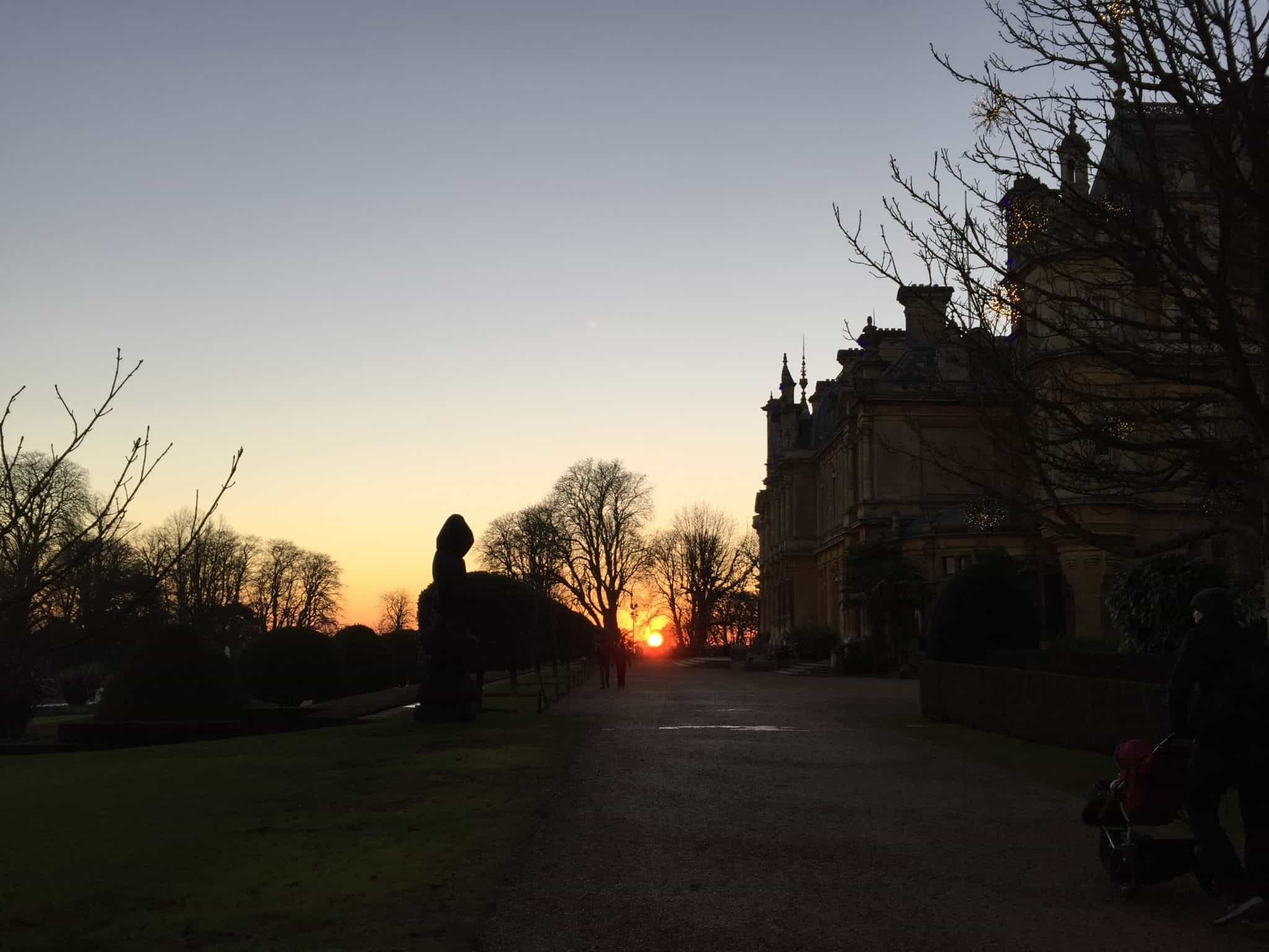 Sunset at the grounds of Waddesdon Manor
