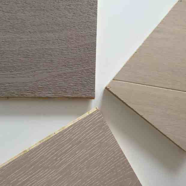Engineered wood floor samples