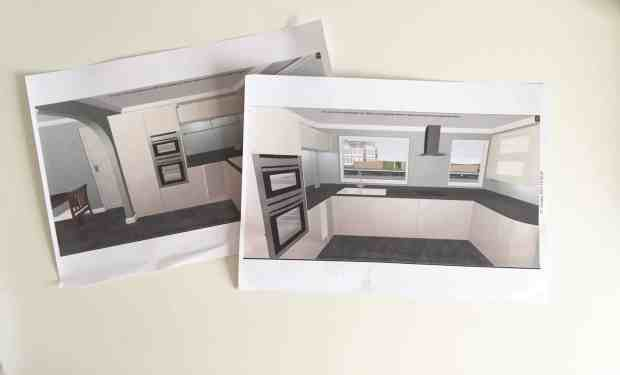 Our new monochrome kitchen plans
