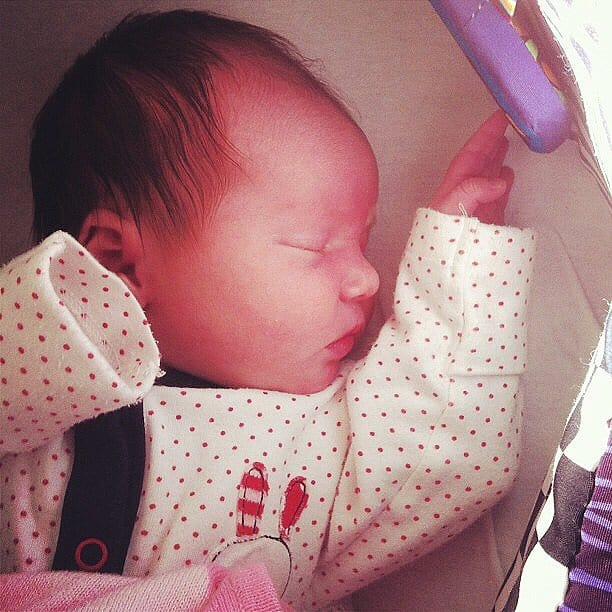 Thea at a few days old