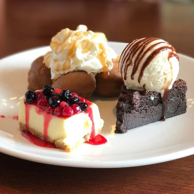 Trio of Desserts at The Giffard Park