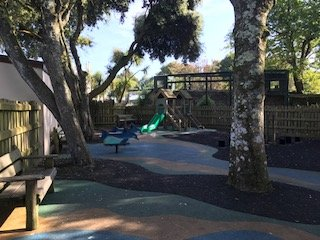 Outdoor play area at Paradise Park Wildlife Sanctuary
