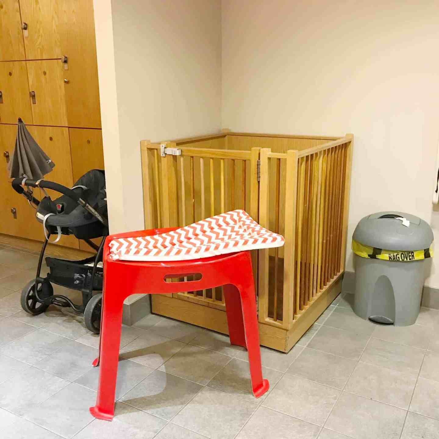 Baby change facilities at David Lloyd changing rooms in Milton Keynes