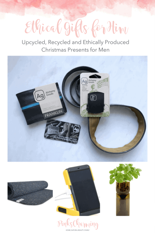 Ethical Gifts for Him - upcycled, recycled and ethically produced Christmas presents for men