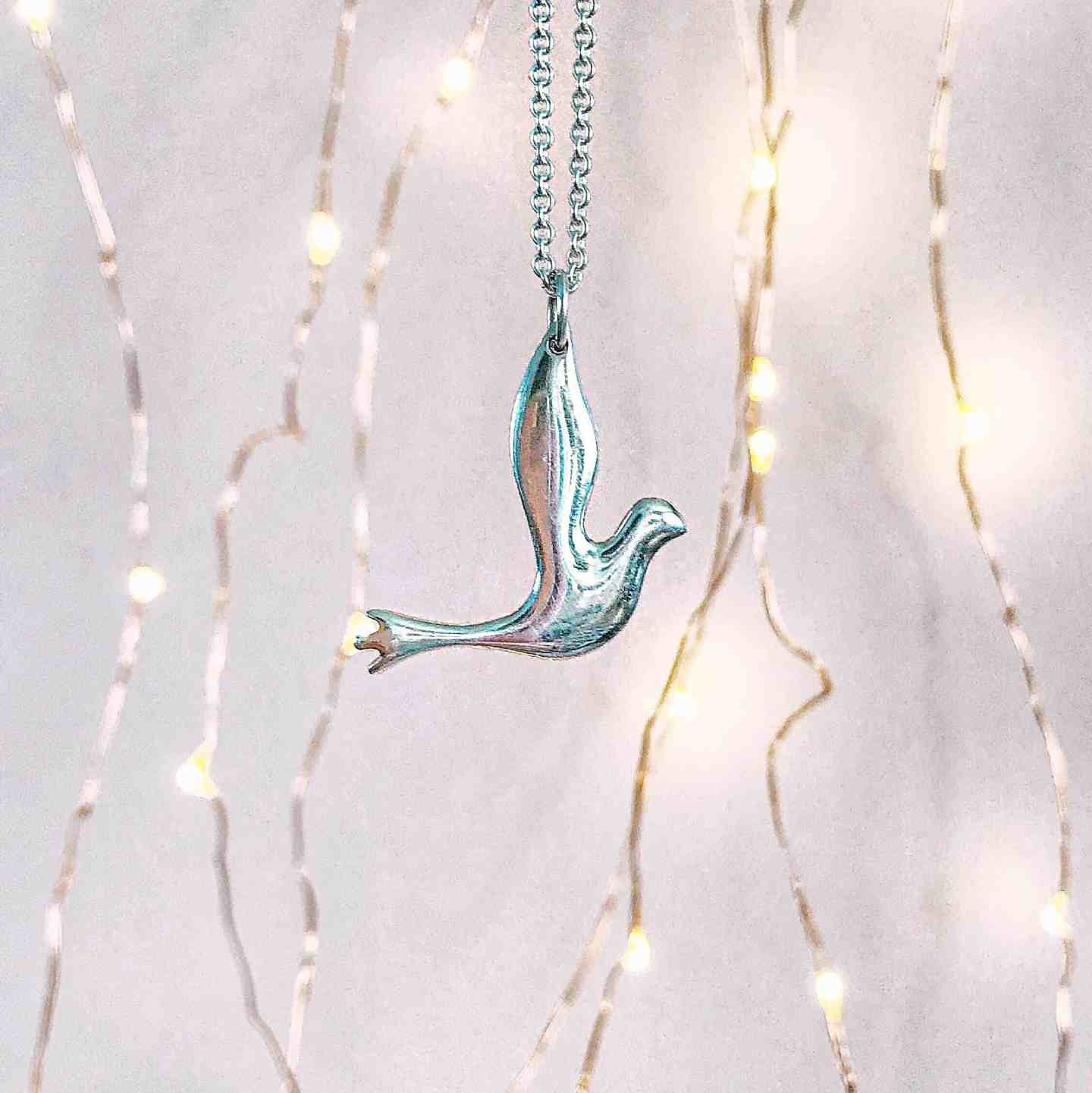 Mosami Wings of Hope Ethical Silver Necklace