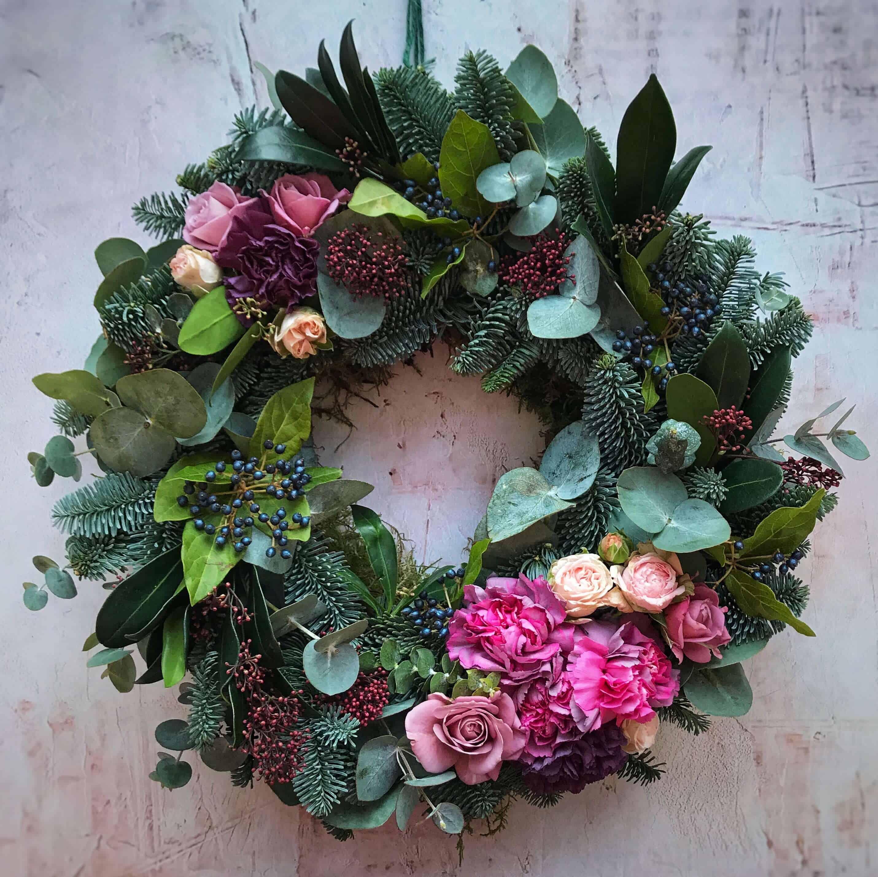 how to make a fir wreath