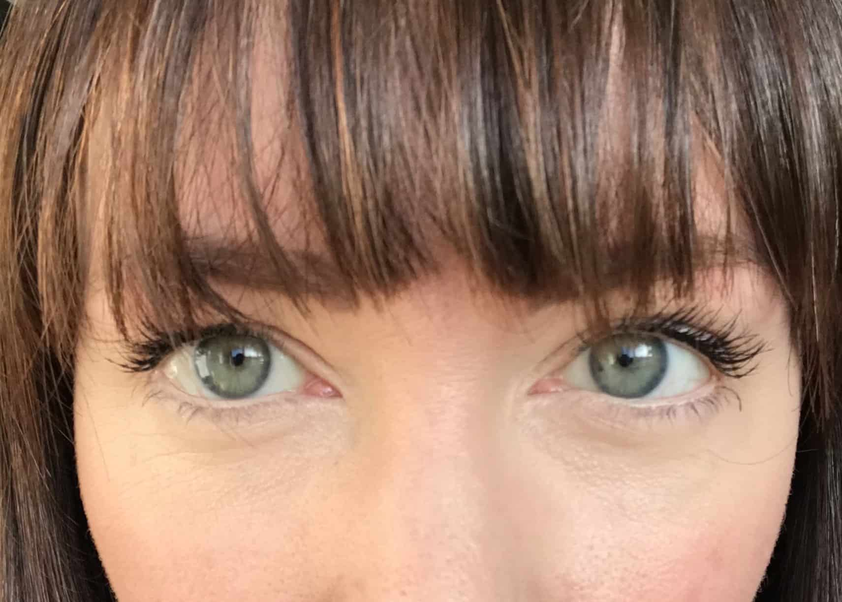 Two layers of PHB Ethical Beauty Mascara