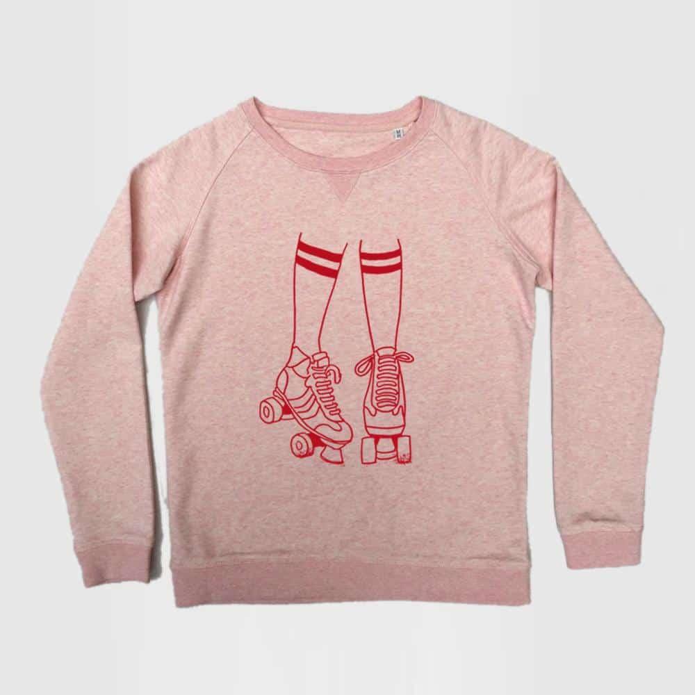 Disko Kids Pink Roller Disco Sweatshirt