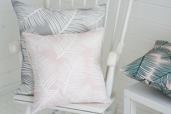 TheRoomAlive Palm Print Cushion woudl make a unique Mother's Day Gift idea