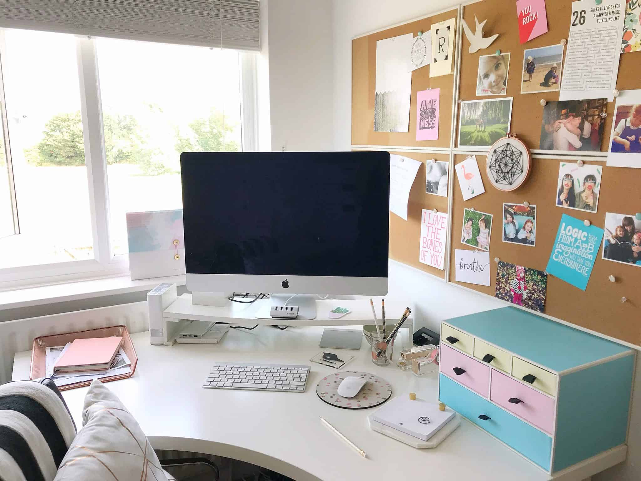 Corner desk helps create the perfect home office
