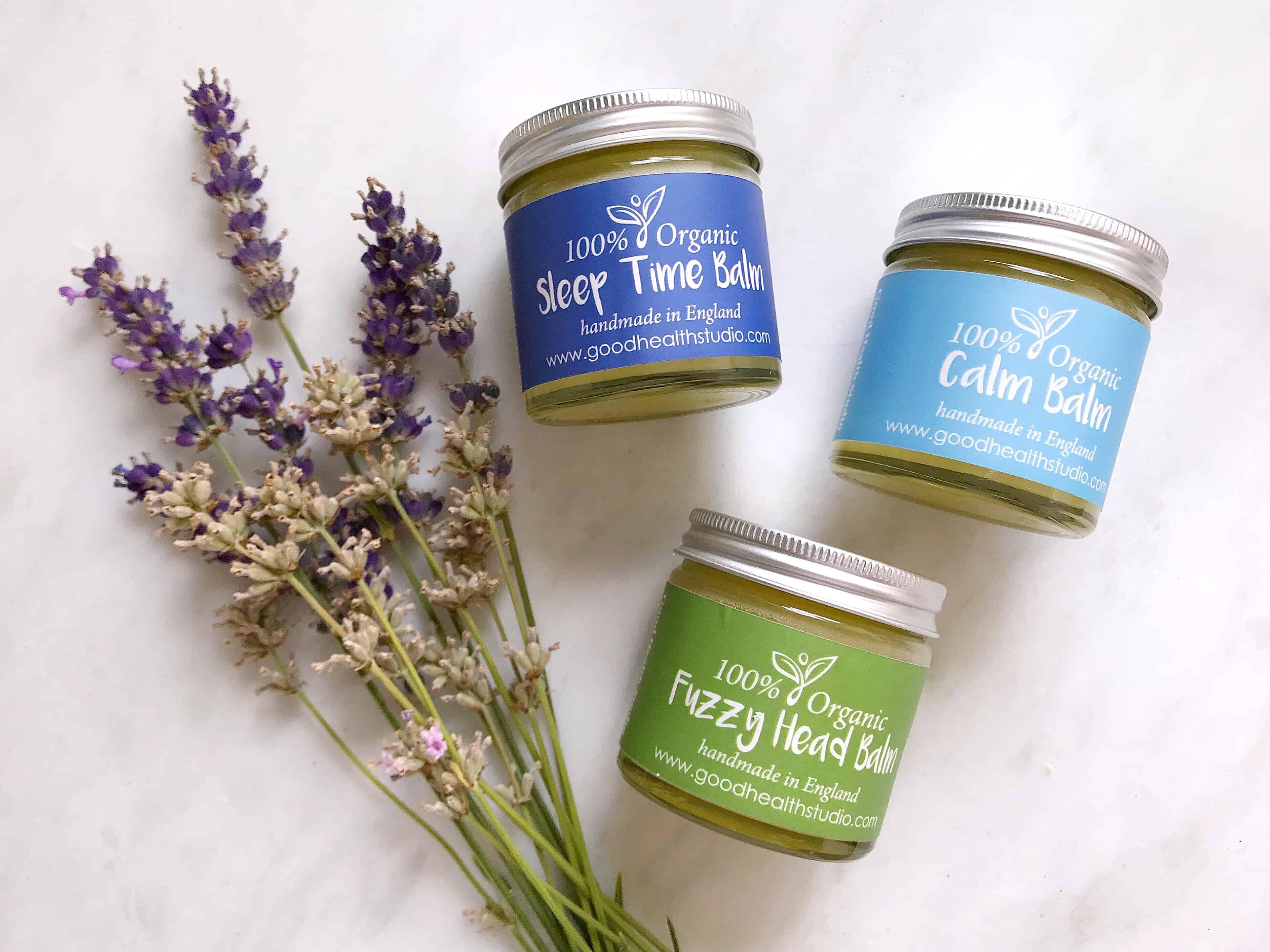 Good Health Studio 100% organic aromatherapy wellness balms