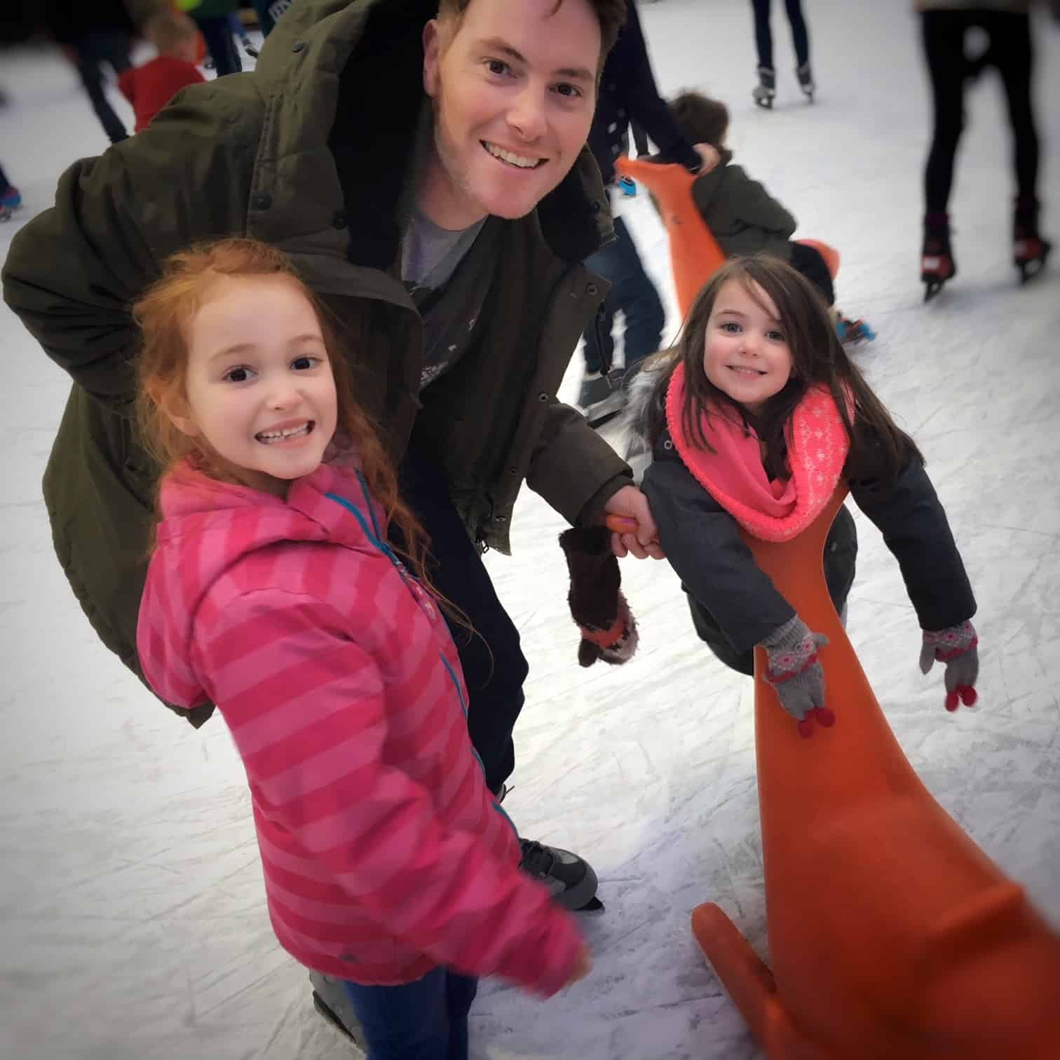 Ice skating fun