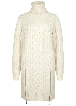 ALEXANDER WANG Cream cable-knit wool jumper dress